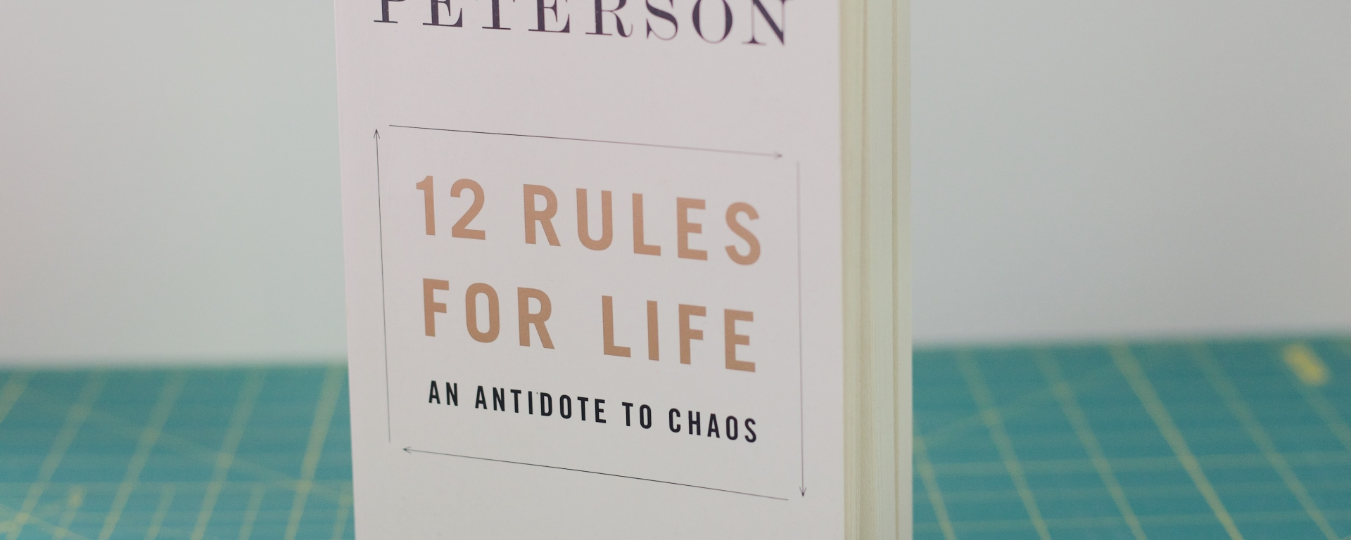 An image of a book titled '12 Rules for Life' by Jordan Peterson.