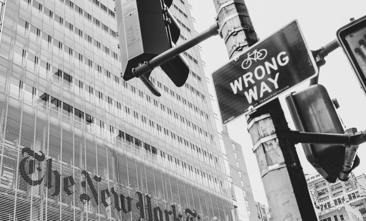 An image of a 'wrong way' sign.