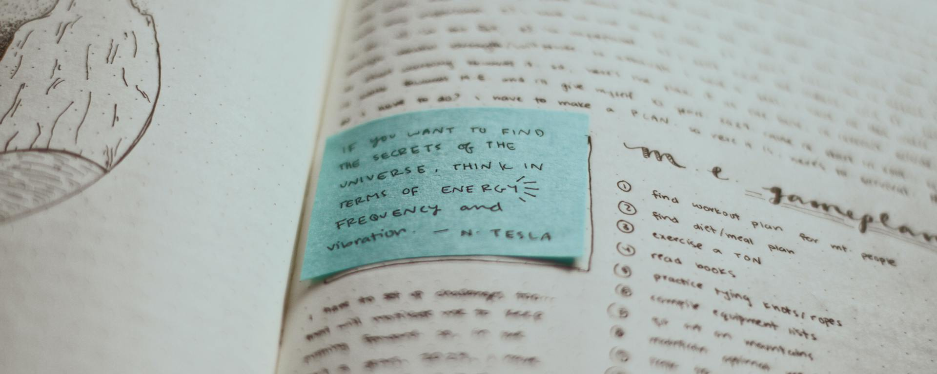 An image of a journal page with self-development notes.