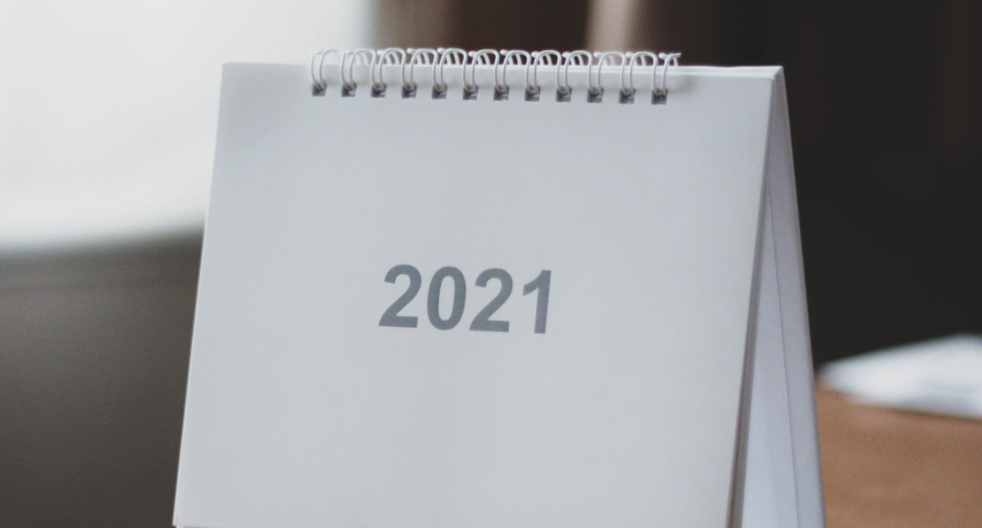 An image of a calendar page showing '2021'.